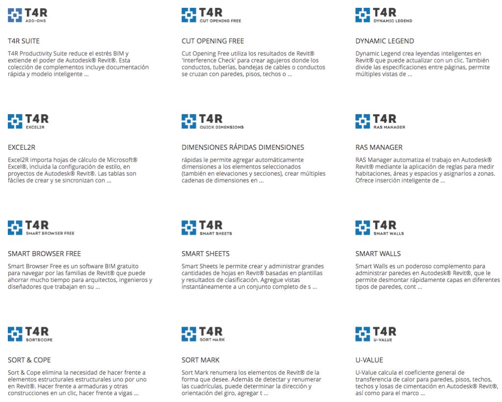 T4R© (Tools 4 Revit) - Extensions for Revit Architecture/Structure/MEP