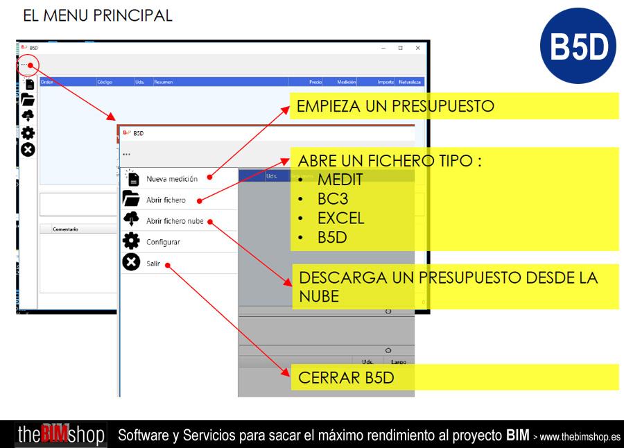 B5D para Presupuestos BIM