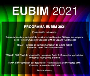 PROGRAMA BIM EUBIM - 10º ENCUENTRO DE USUARIOS BIM. EUBIM 2021
